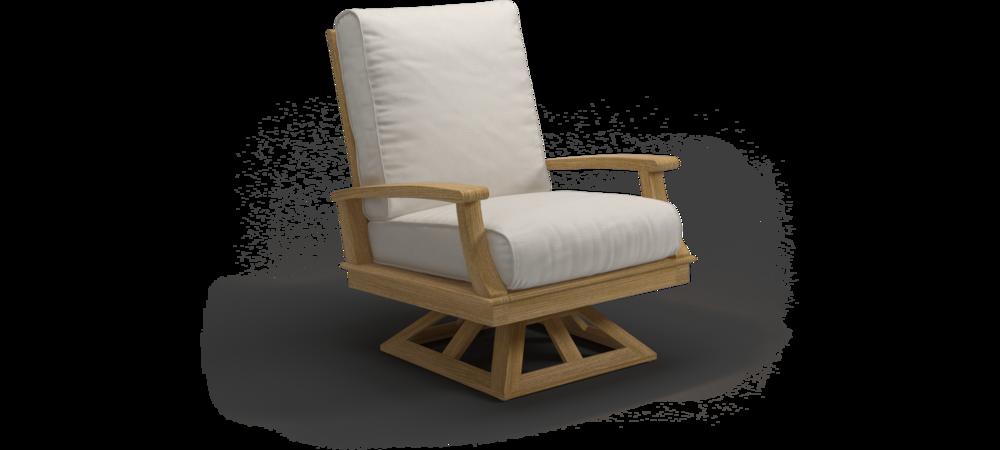 Ventura Swivel Rocker Lounge Chair (Teak / Canvas)