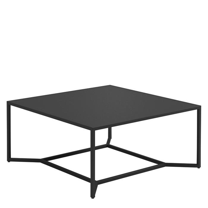 Superbe Bloc Square High Coffee Table   Aluminium Top