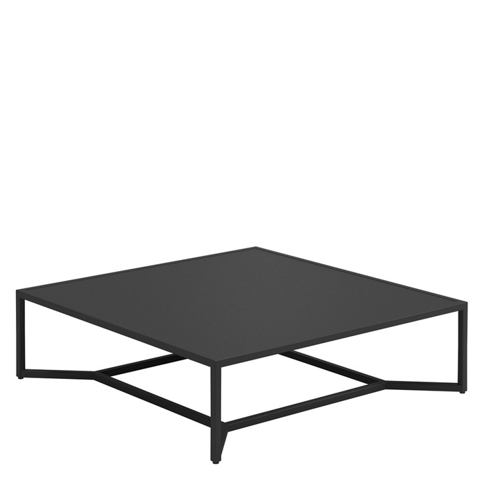 Bloc Square Low Coffee Table   Aluminium Top