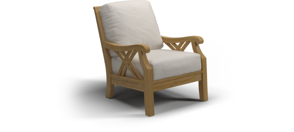 Halifax Lounge Chair Teak Canvas