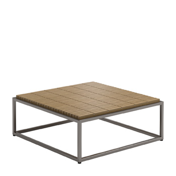 Cloud Square Coffee Table - Teak Top