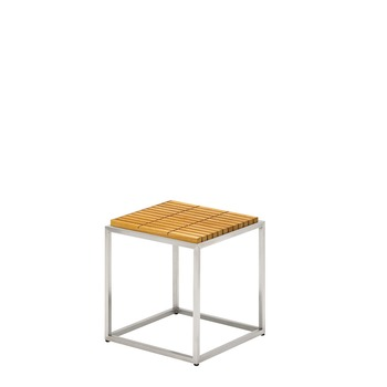 Cloud Square Side Table (Teak Top)