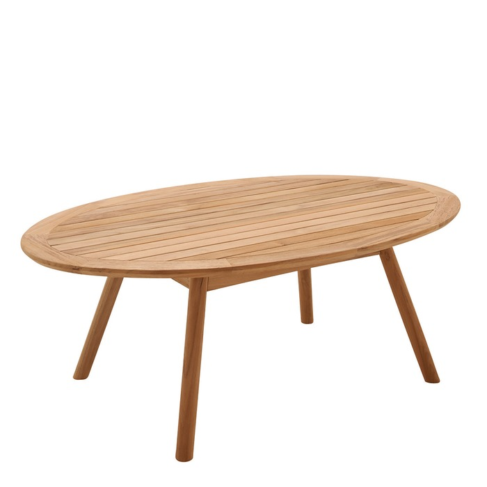 Dansk Oval Coffee Table   Teak Top