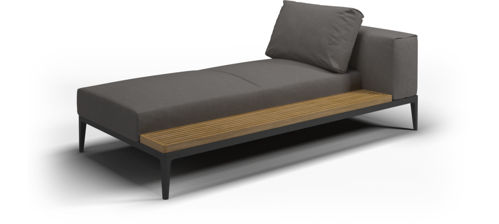 Grid Left / Right Chaise Unit  sc 1 st  Gloster Furniture : gloster chaise lounge - Sectionals, Sofas & Couches