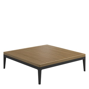 Grid Square Coffee Table - Teak Top