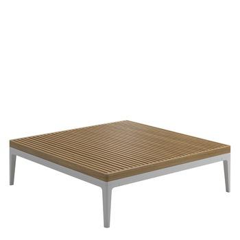 Grid Square Coffee Table - Teak Top