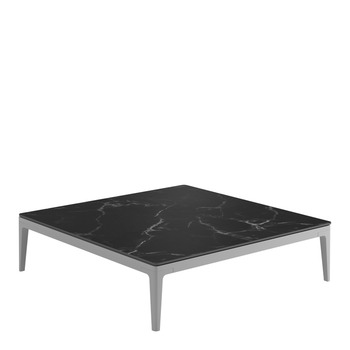 Grid Square Coffee Table - Nero Ceramic Top