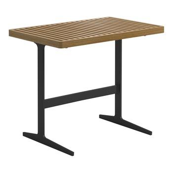 Grid Side Table  Buffed Teak (Meteor)