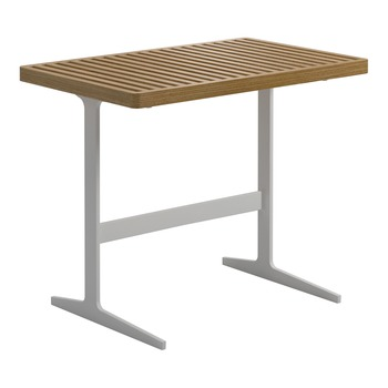Grid Rectangular Side Table - Teak Top