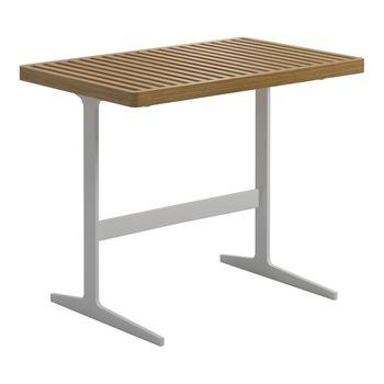 Grid Side Table  Buffed Teak (White)