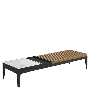 Grid Coffee Table - Bianco Ceramic Top (Meteor)