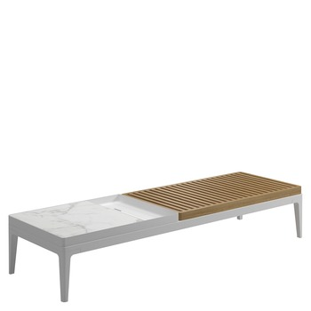 Grid Coffee Table - Bianco Ceramic Top (White)