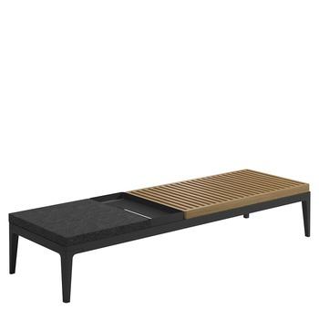 Grid Coffee Table  Buffed Teak (Meteor)