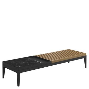 Grid Coffee Table - Nero Ceramic Top (Meteor)