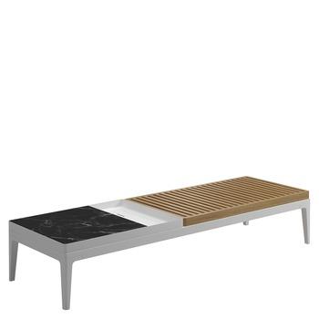 Grid Coffee Table - Nero Ceramic Top (White)