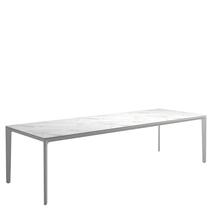 Merveilleux Carver Large Rectangular Table   Bianco Ceramic Top