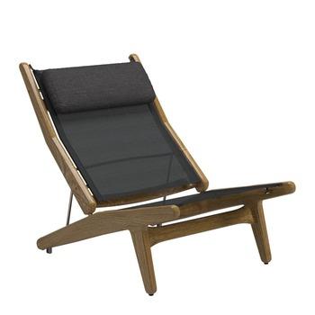 Bay Reclining Chair - Buffed Teak (Anthracite)
