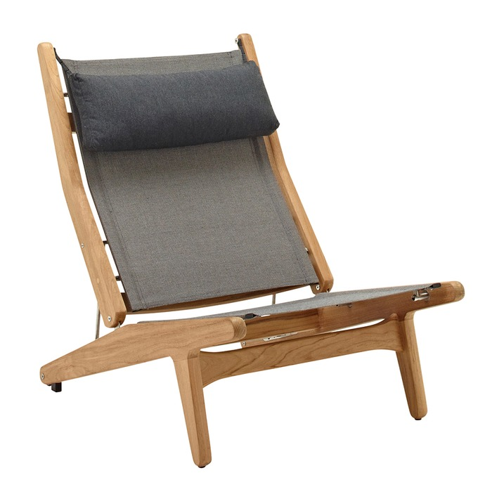Bay Reclining Chair Buffed Teak (Granite)