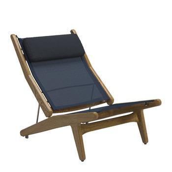 Bay Reclining Chair - Buffed Teak (Sapphire)