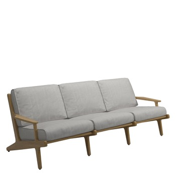 Bay 3-Seater Sofa - Buffed Teak