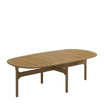 Bay Rectangular Coffee Table - Teak Top