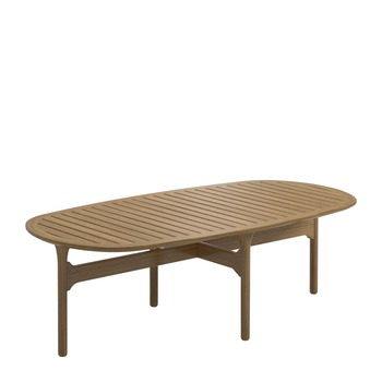 Bay Coffee Table - Buffed Teak Top