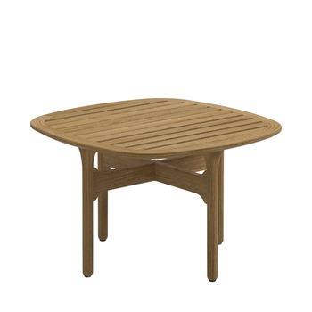 Bay Square Side Table - Teak Top