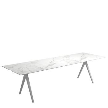 Split Large Rectangular Table   Bianco Ceramic Top