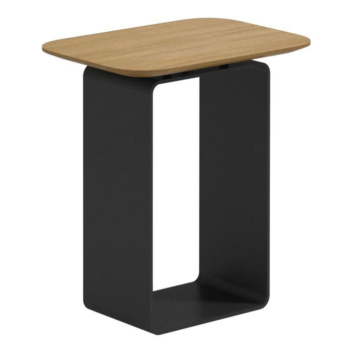 Clamp Low Side Table   Buffed Teak Top (Meteor)