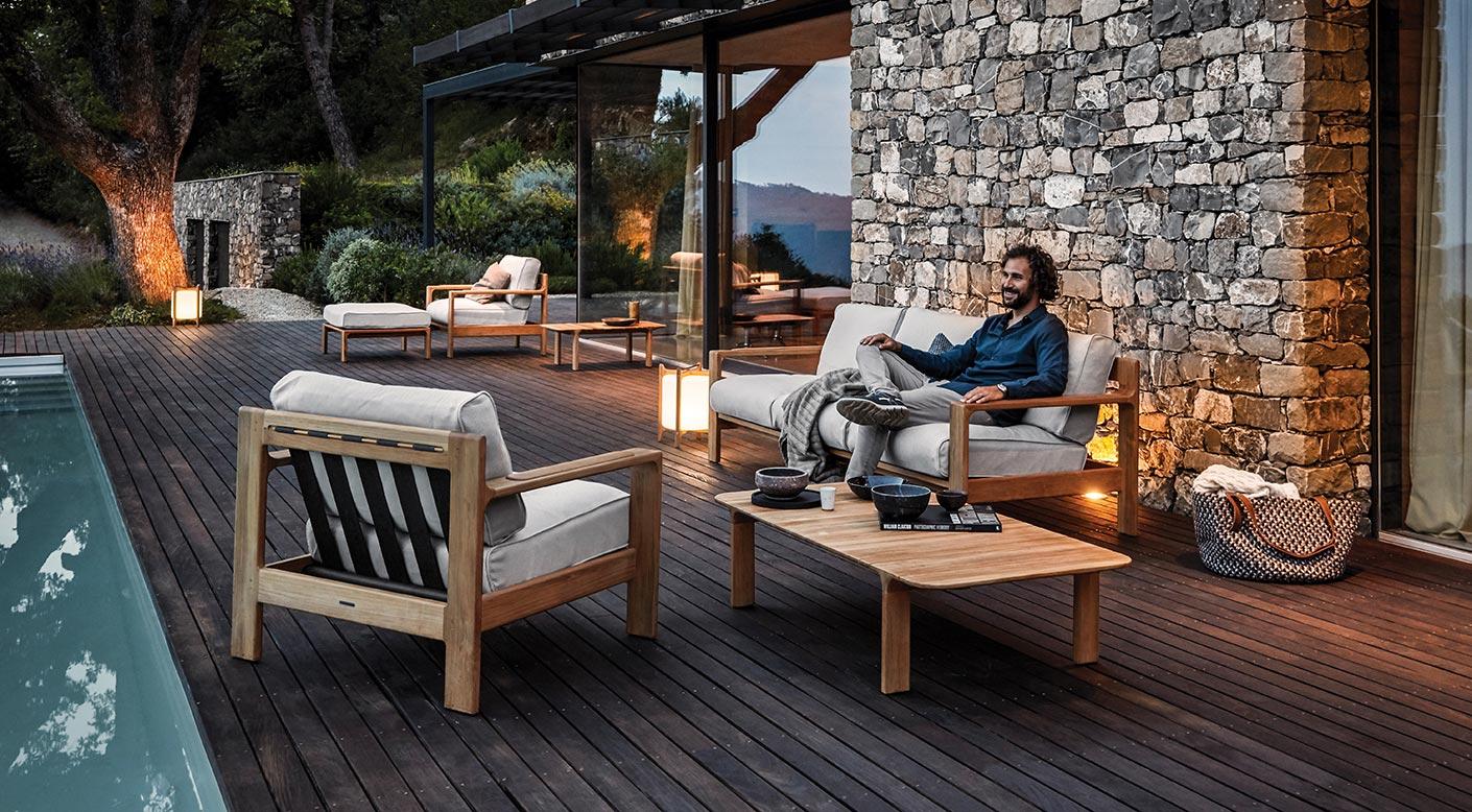 Pleasant Loop Collection Modern Luxury Outdoor Furniture Gloster Customarchery Wood Chair Design Ideas Customarcherynet