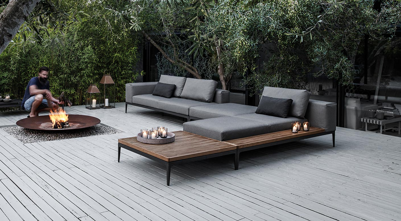 Gloster Grid Collection Modern Luxury Outdoor